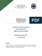LAB N1 Pruebas de Un Transformador
