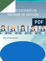 Como Escribir Un Informe de Gestion