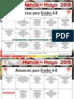 2018 may lunch menu grades 6-8 spanish