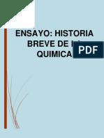 Ensayo Breve Historia de La Quimíca