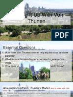 Turning It Up With Von Thunen