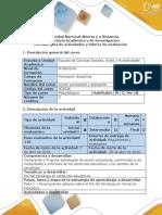 Guía de Actividades y Rúbrica de Evaluación - Paso 1 - Reflexionar Sobre El Rol Del Psicólogo Educativo