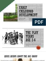 early childhood development final project