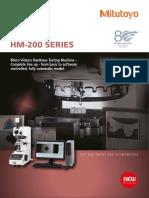 Mitutoyo - Twardościomierze MicroVickers HM-200 Seria - PRE1426 - 2014 EN