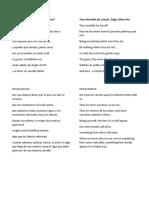 Poema Deseas Que Te Amen de Edgar Allan Poe
