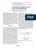 A Modified Open Loop Control of a Matrix Converter