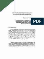 Los Tratados Internacionales en La Constitucion Argentina
