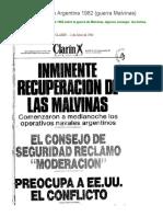 Tapas de Diarios de Argentina 1982