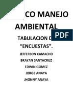 Tabulacion Grafica Tecnico Manejo Ambiental