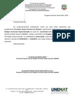 Ofício de Autorização para o Estágio de Observação - UNEMAT