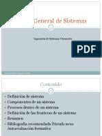 Teoría General de Sistemas 1a
