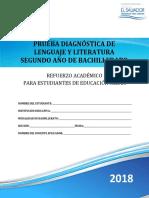 Prueba de Diagnóstico de Lenguaje y Literatura Segundo Año de Bachillerato - 2018-1