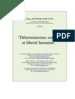 Roger Bastide - Déterminismes sociaux et liberté humaine