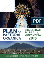 Plan de Pastoral Orgánica 2018 Arquidiócesis de Monterrey