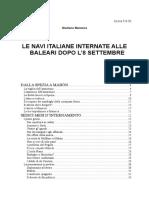 Le Navi Italiane Internate Alle Baleari Dopo l'8 Settembre