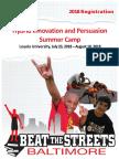 2018 Summer Innovation and Persuasion Camp ,  Loyola University, Grades 9-12