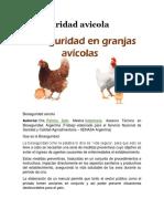 Bioseguridad Avicola