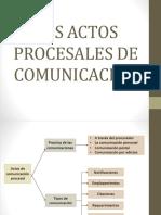 Los Actos Procesales de Comunicacion
