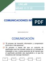 UNLaM Unidad 11 y 12 Comunicaciones