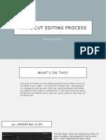 Final Cut Editing Process