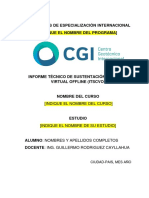 3. Formato de Informe Tecnico de Sustentacion - Programa de Especializacion