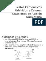 Aldehidos y Cetonas Reacciones de Adicion Nucleofilica