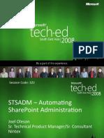 STSADM Automating Admin Oleson