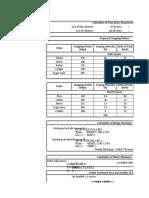 Canal Design Sheet