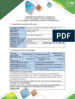 Guía de Actividades y Rúbrica de Evaluación Paso 2. Preinforme de Práctica