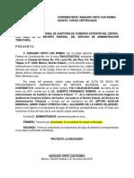 Escrito para solicitar copias certificadas