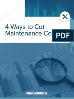 4 Ways to Cut Maintenance Costs