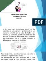 diapositivas orientacion vocacional
