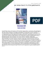 Psicopatologia Incluye Dsm IV Tr (3ª Ed)