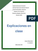 Explicaciones en Clase. Clase #4
