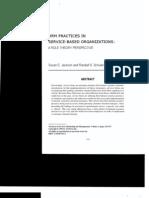 HR Practices Service Organizations