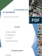 Poverty and Illiteracy in El Salvador