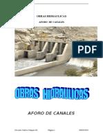 Aforo de Caudales Canal