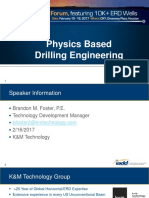 Physics Based Drilling Engineering