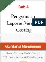 Penggunaan Laporan Variabel Costing