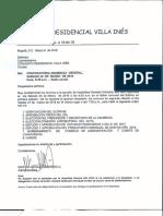 Convocatoria Reunión Villa Ines Marzo 2018