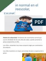 Nutricion Normal Preescolar y Escolar Examen