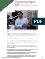 Alcalde Distrital Es Condenado Por Conducir en Estado de Ebriedad _ Legis.pe