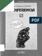 Lyotard La Diferencia PDF