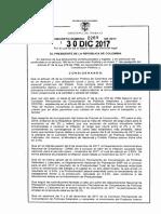 Salario Minimo 2018 - Decreto 2269 Del 30 de Diciembre de 2017