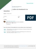 Cronologia do cultivo do dendezeiro na Amazônia