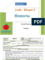 Plan 4to Grado - Bloque 5 Historia.doc