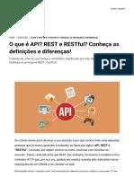O Que é API? REST e RESTful? Conheça as Definições e Diferenças!