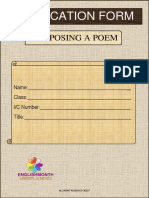 Application Form Composing a Poem