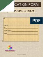 Application Form Composing a Poem