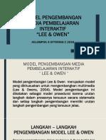Model Pengembangan Media Pembelajaran Interaktif -Lee & Owen